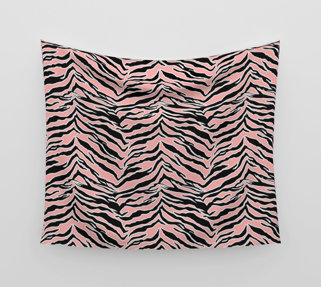 Tiger Print - Blush Peach Wall Tapestry preview