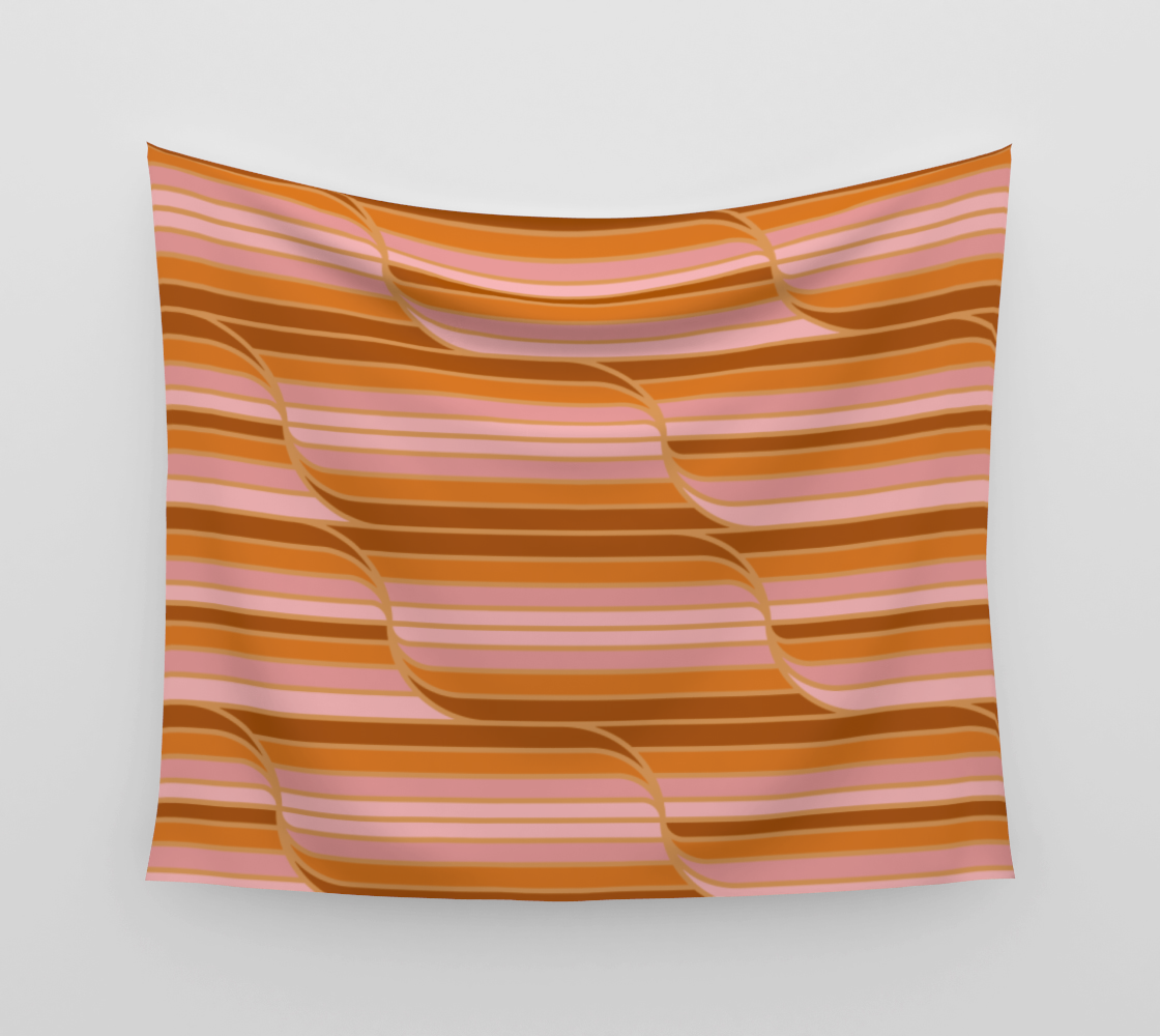 Geo Stripes - Butterscotch Wall Tapestry aperçu