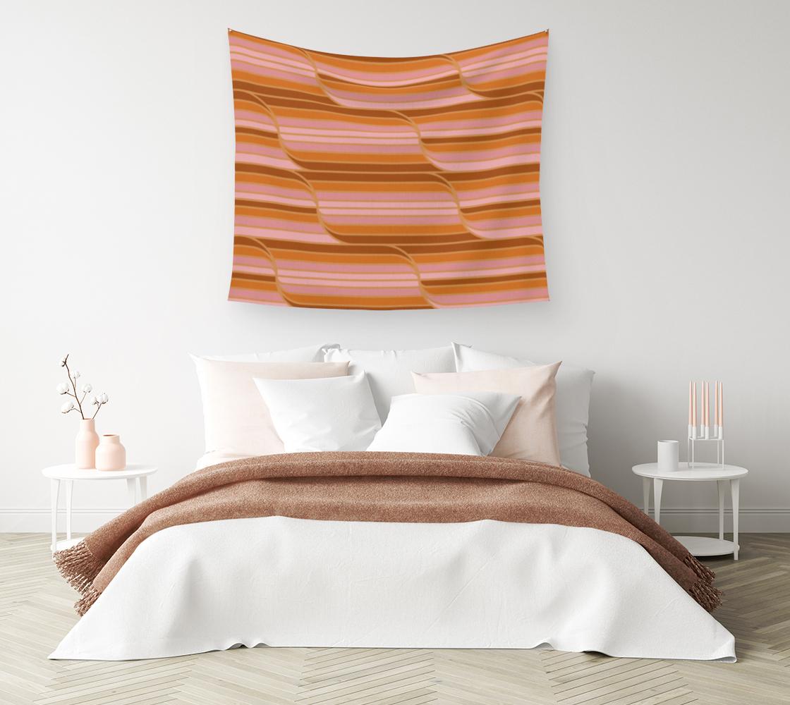 Aperçu de Geo Stripes - Butterscotch Wall Tapestry #1