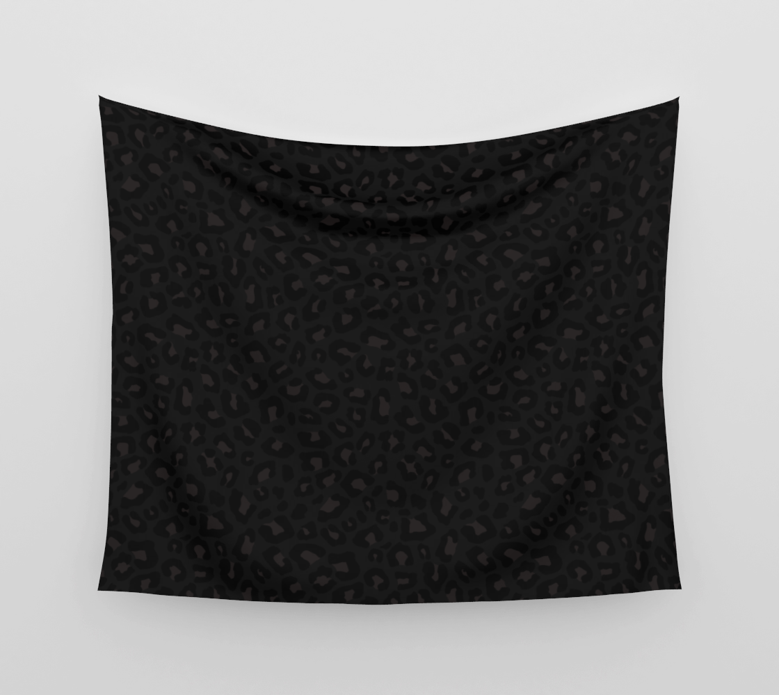 Leopard Print 2.0 - Black Panther Wall Tapestry preview