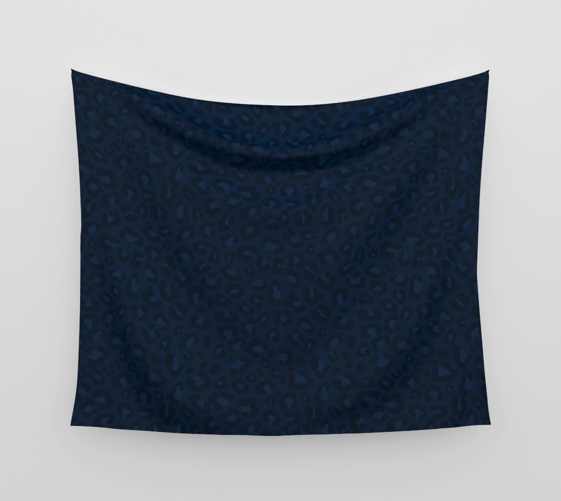 Leopard Print 2.0 - Navy Blue Wall Tapestry aperçu