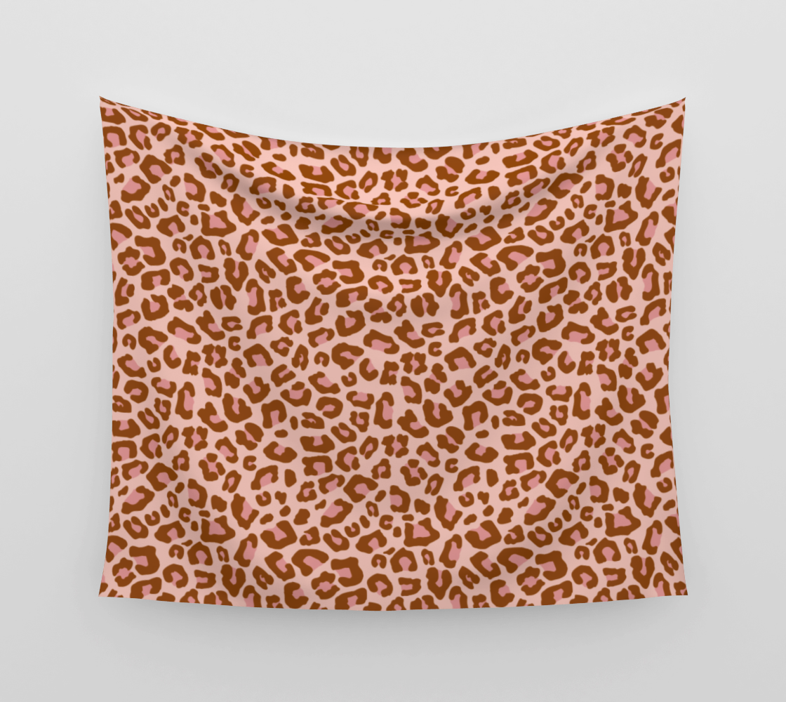 Leopard Print 2.0 - Caramel Blush Wall Tapestry preview