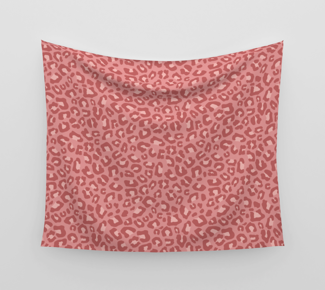 Leopard Print 2.0 - Terracotta Wall Tapestry preview