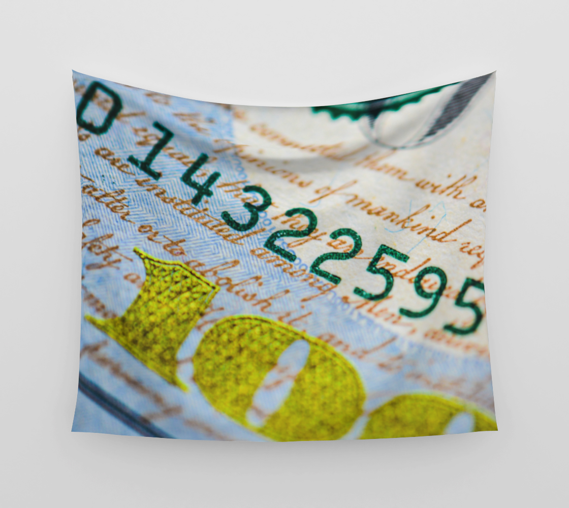 Money Down Wall Tapestry preview