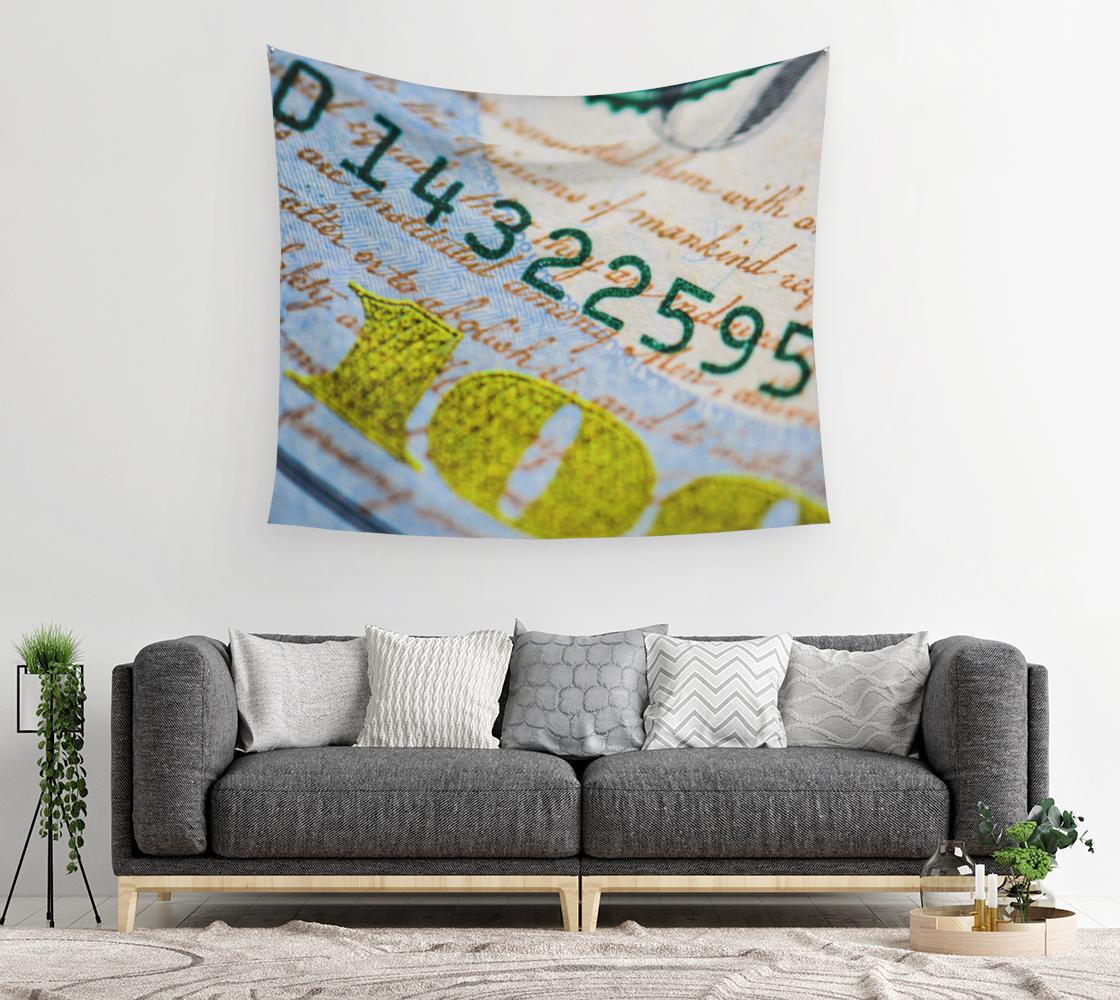 Aperçu de Money Down Wall Tapestry #2