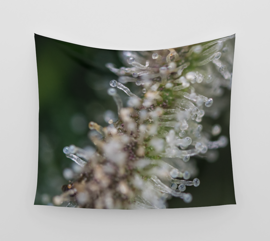 Trichomes & Terpenes Wall Tapestry preview