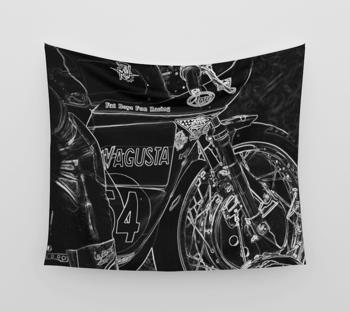 Motorcycle 1 Wall Tapestry preview #3