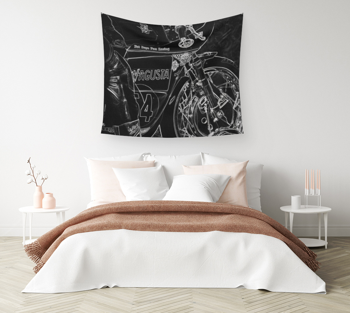 Motorcycle 1 Wall Tapestry preview #1