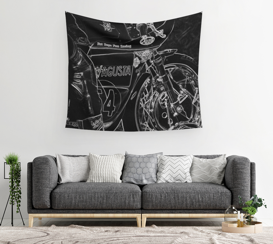Motorcycle 1 Wall Tapestry preview #2