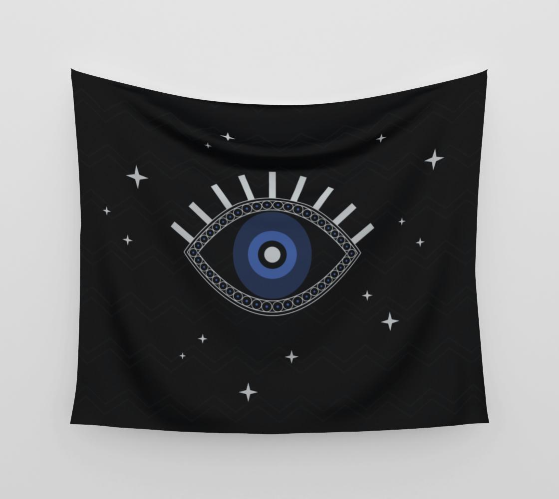 Blue eye magic talisman tapestry aperçu