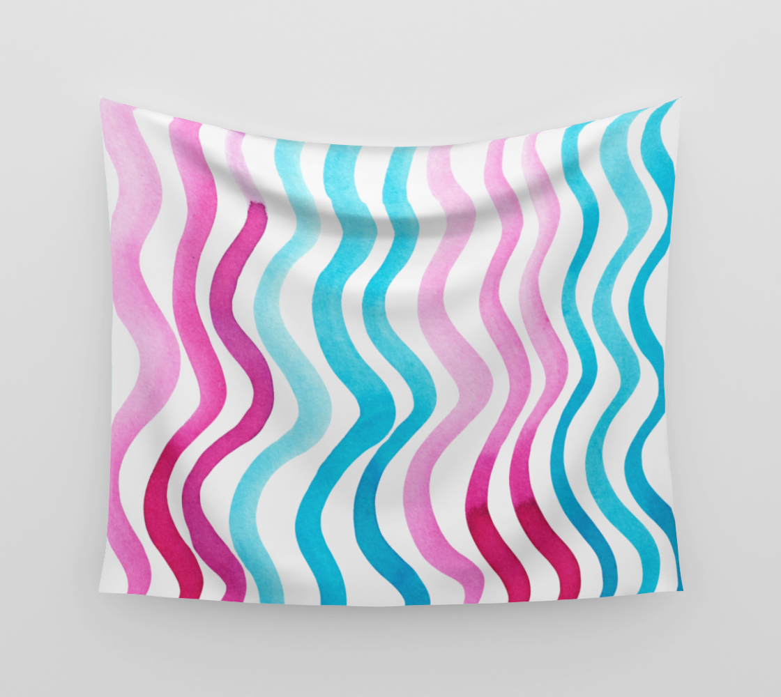 Wavy lines - pink and blue aperçu