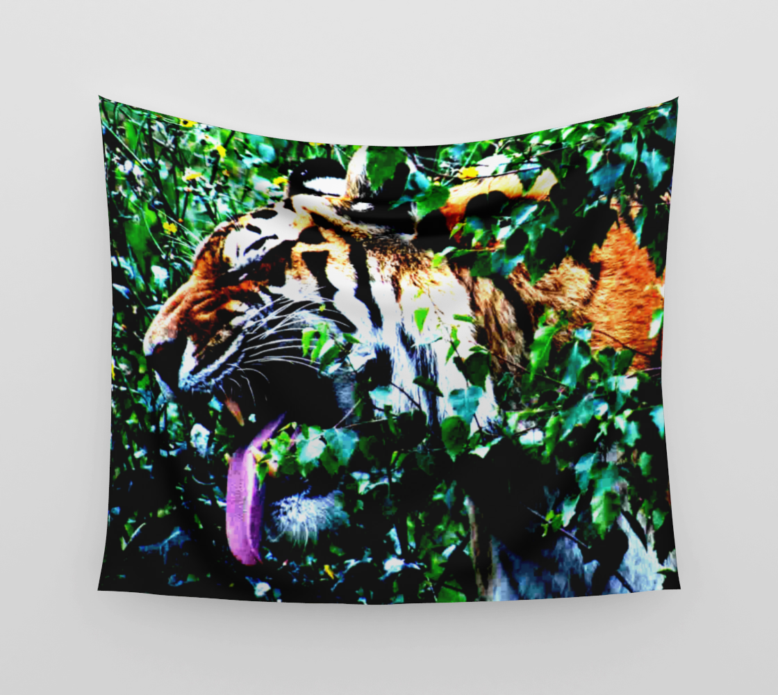 Amur Tiger Wall Tapestry preview #3