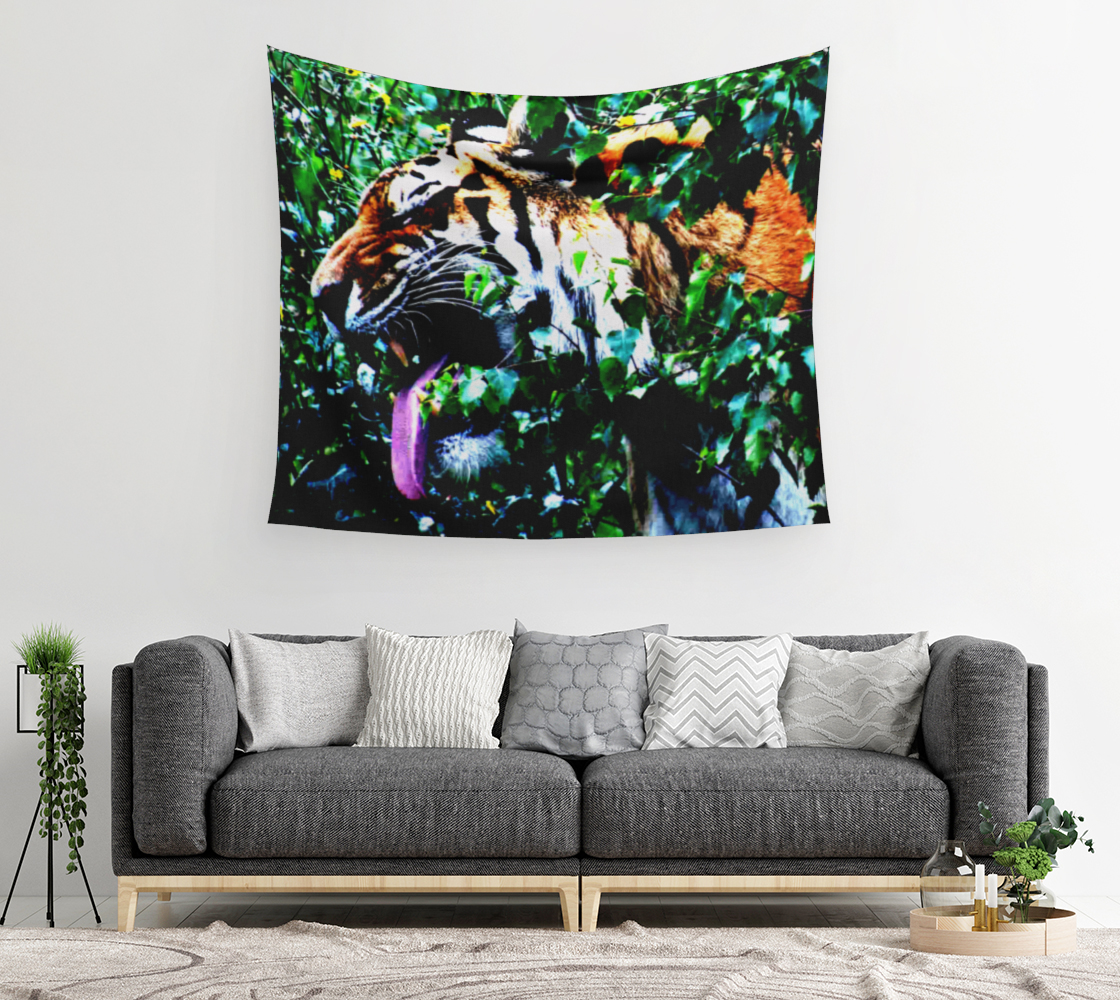 Amur Tiger Wall Tapestry preview #2