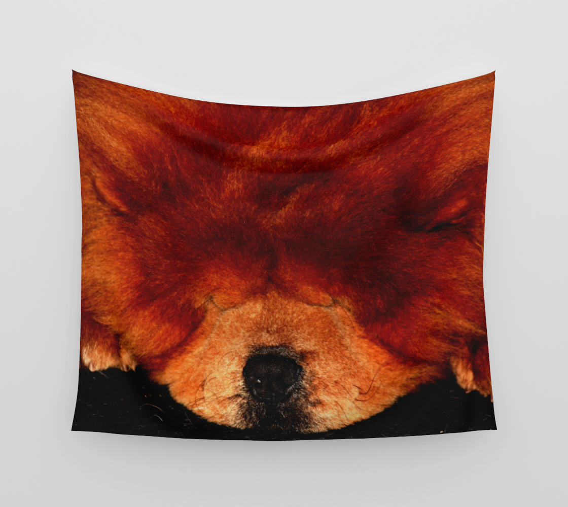 Sleeping Chow Chow Wall Tapestry preview