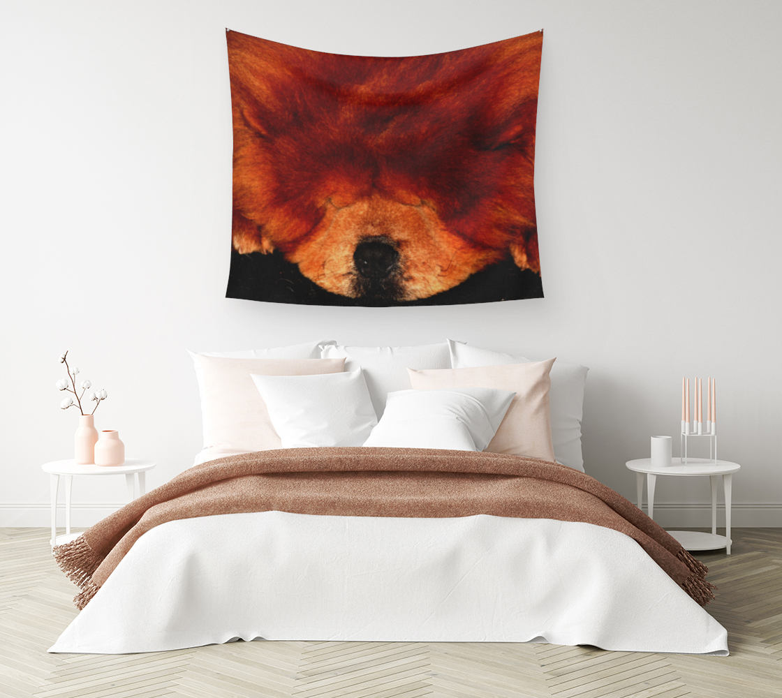 Sleeping Chow Chow Wall Tapestry preview #1