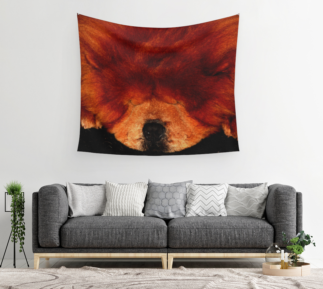 Sleeping Chow Chow Wall Tapestry preview #2