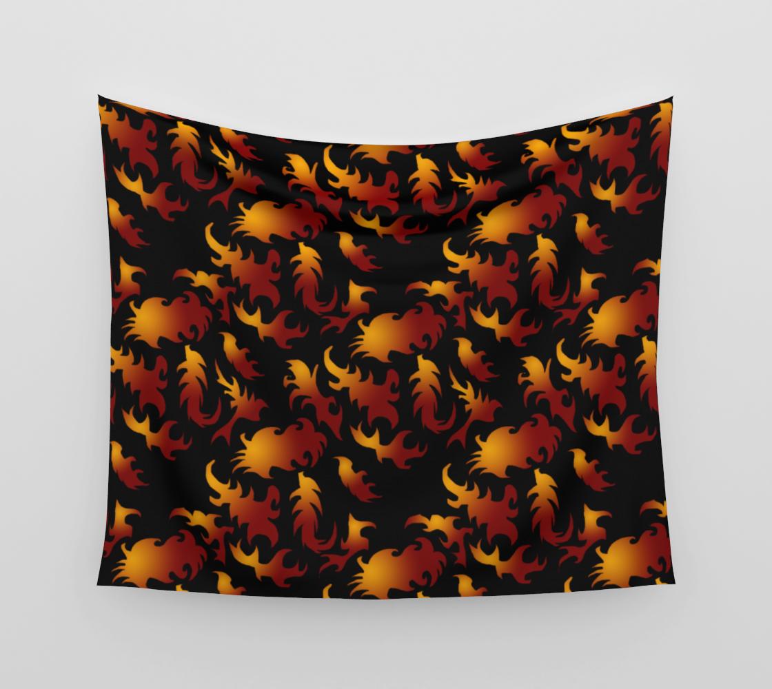 Flames Pattern Wall Tapestry aperçu