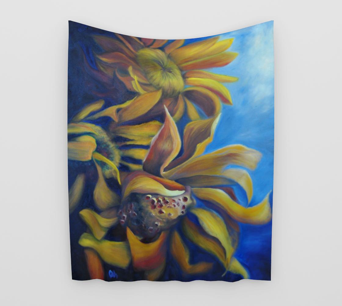 Moody Sunflowers Tapestry aperçu