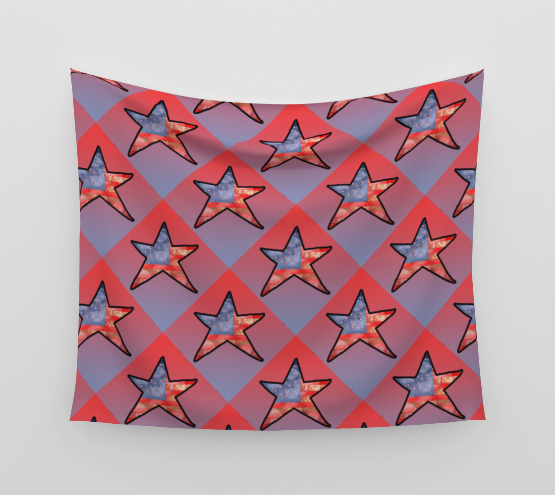 American Flag Star Tapestry aperçu