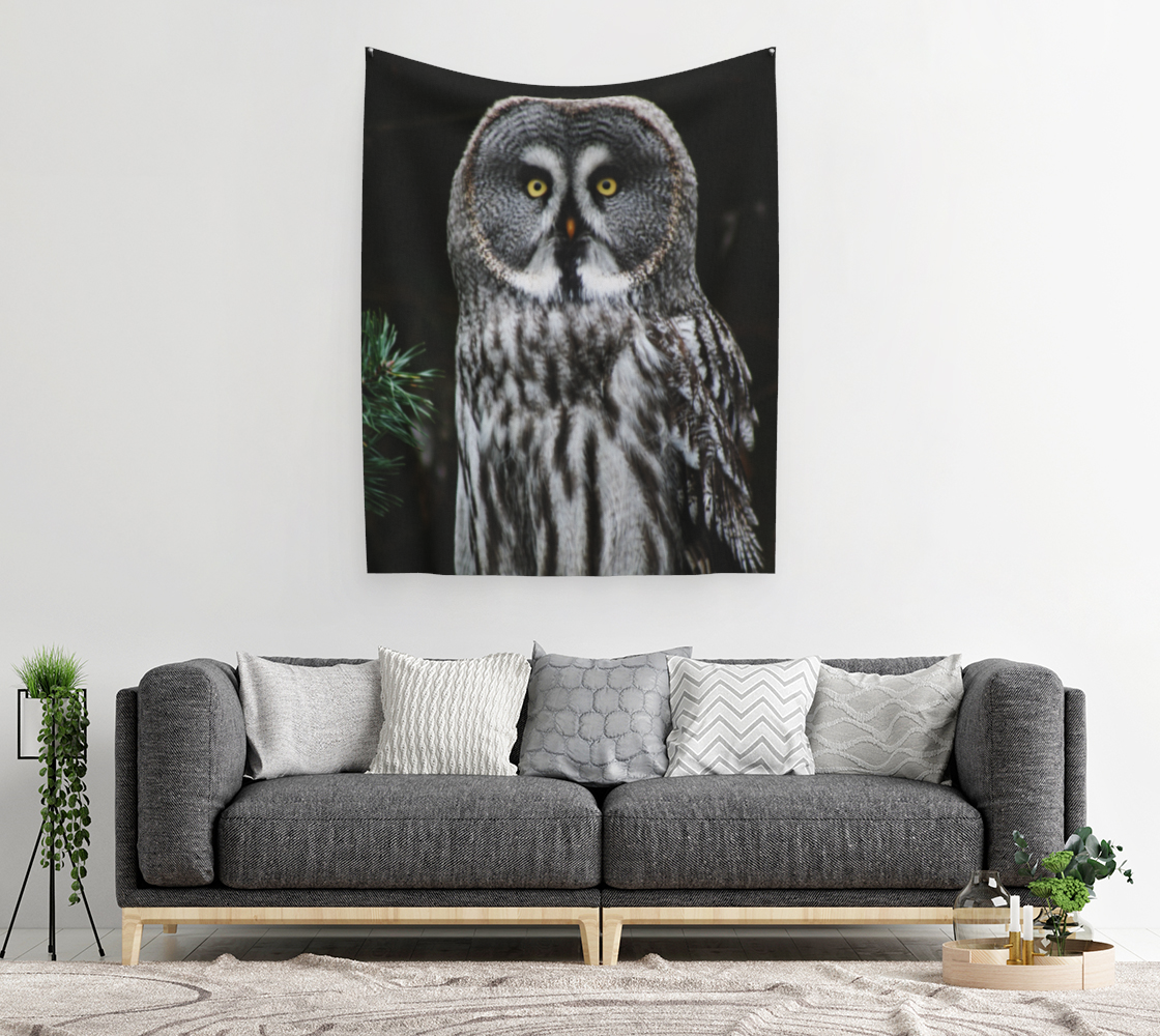The Great Grey Owl Wall Tapestry preview #2