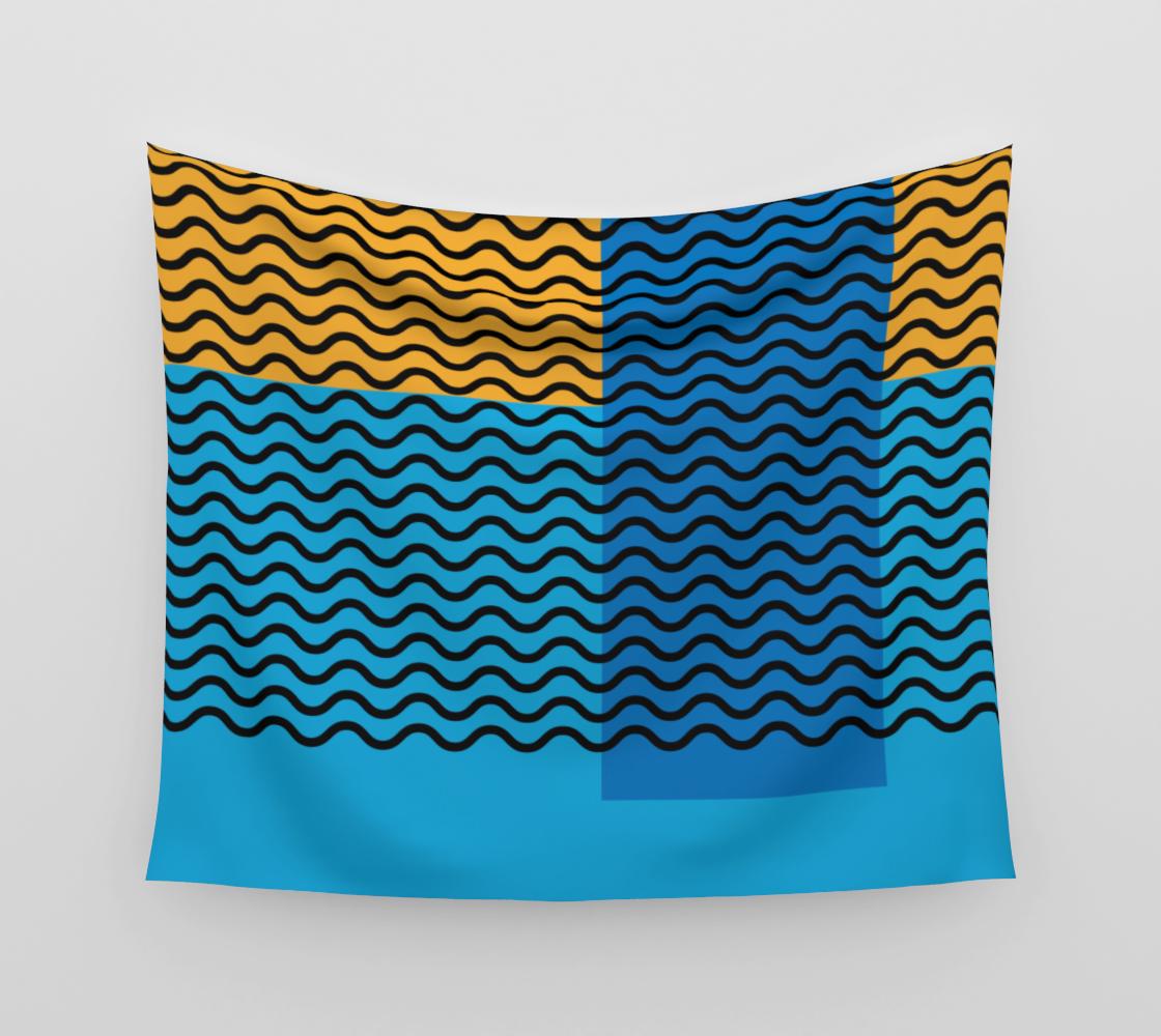 Geometric Shapes and Waves Mosaic Vintage 1960's  aperçu