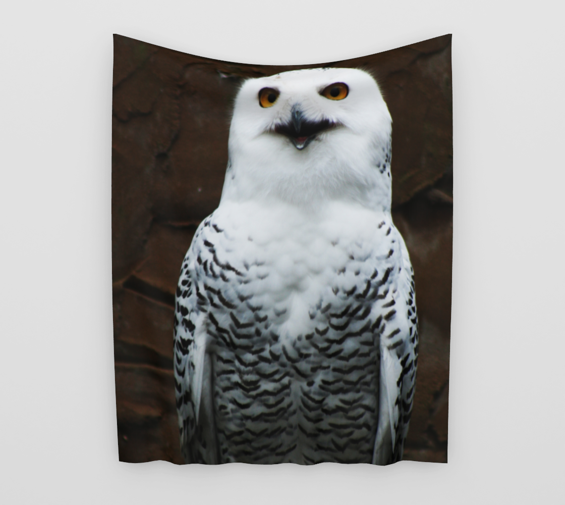 Snowy Owl Wall Tapestry preview #3