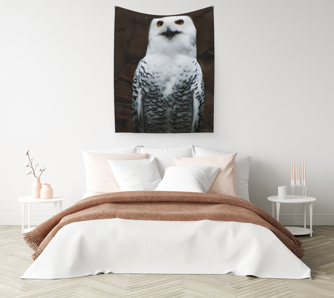 Snowy Owl Wall Tapestry preview #1
