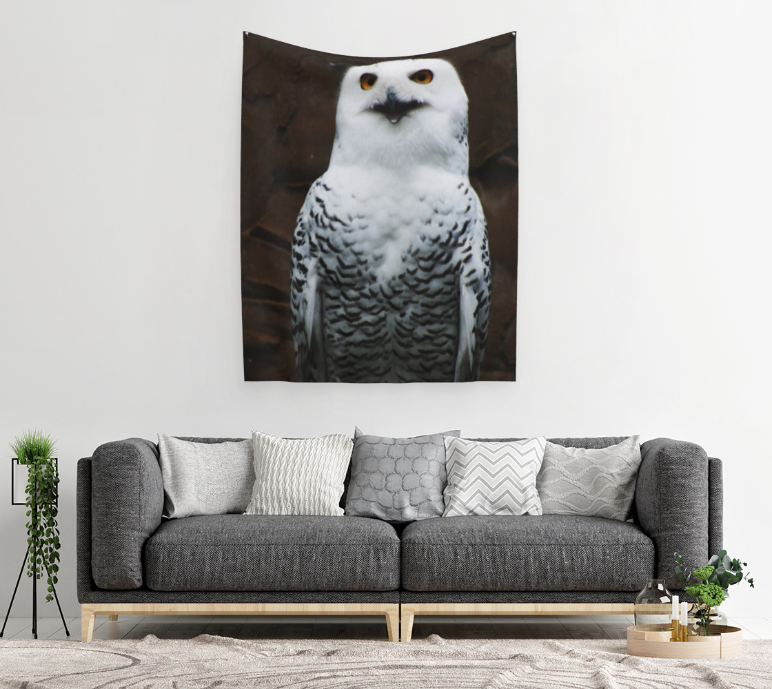 Snowy Owl Wall Tapestry preview #2
