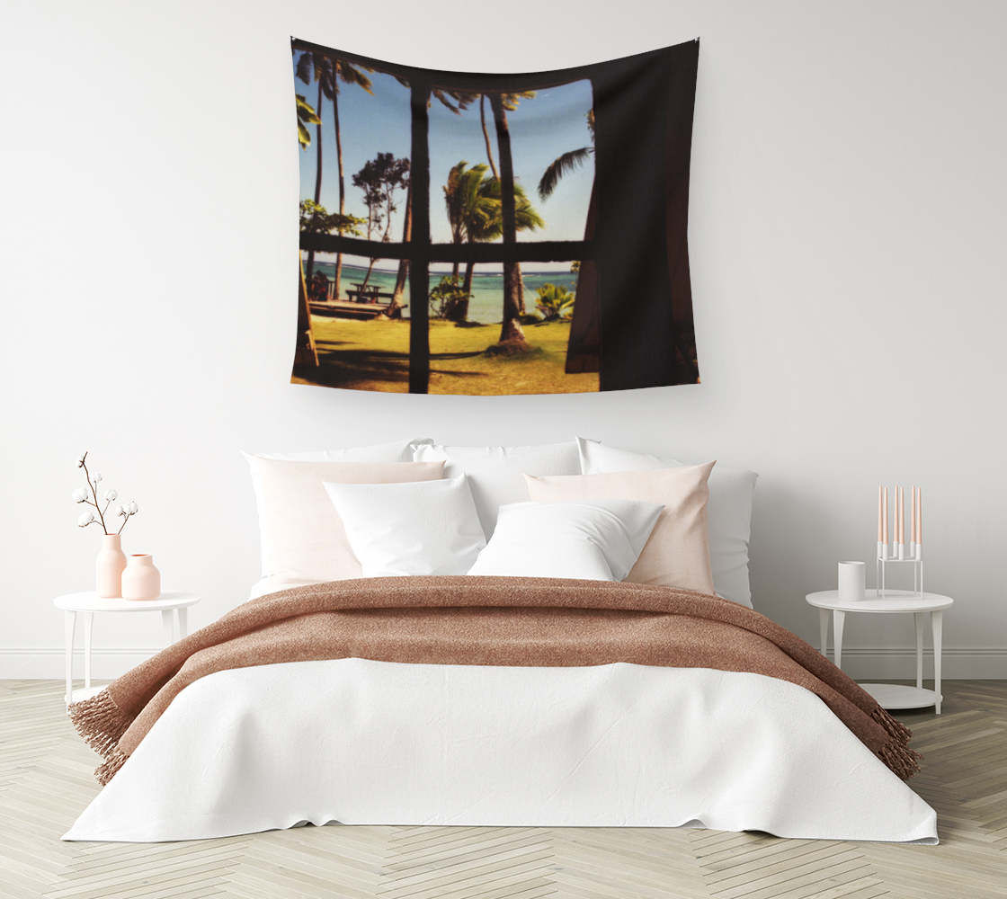 Tropical Fiji Beach Scene Wall Tapestry preview #1