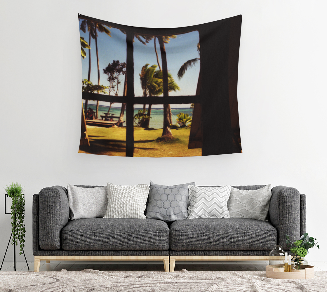 Tropical Fiji Beach Scene Wall Tapestry preview #2
