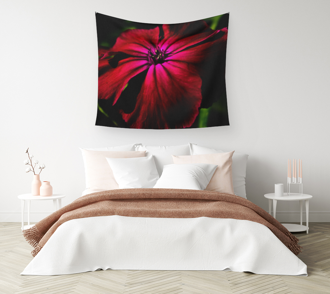 Purple Wild Flower Wall Tapestry preview #1