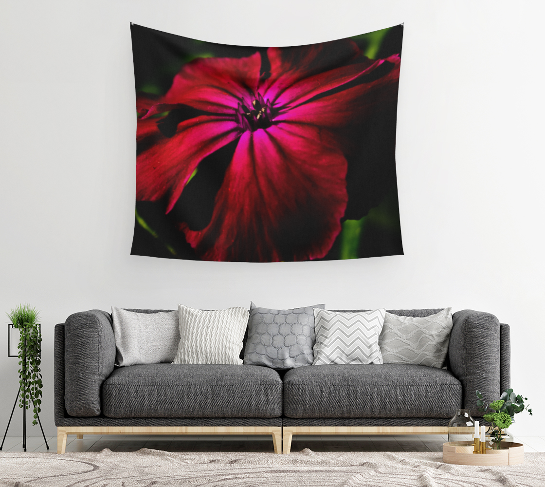 Purple Wild Flower Wall Tapestry preview #2