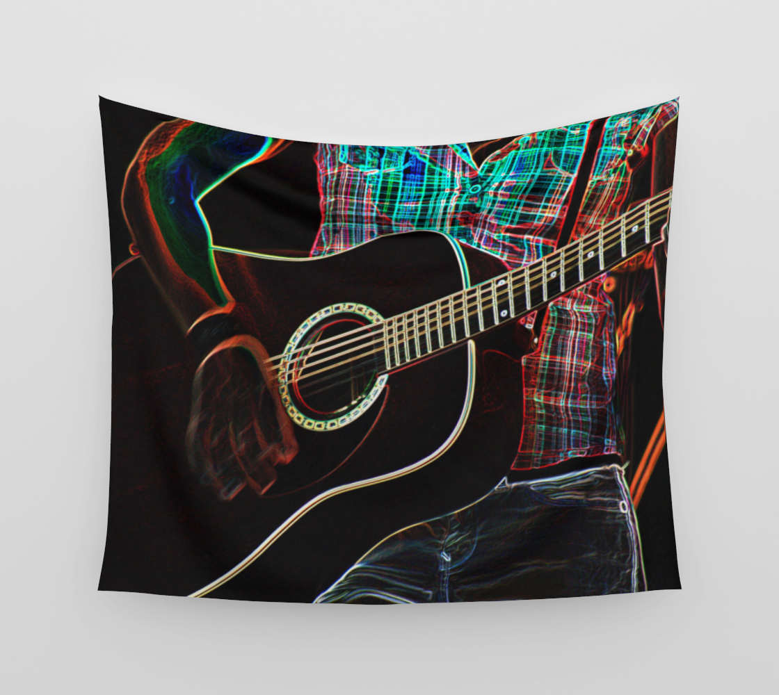 Guitar 1 Wall Tapestry preview #3