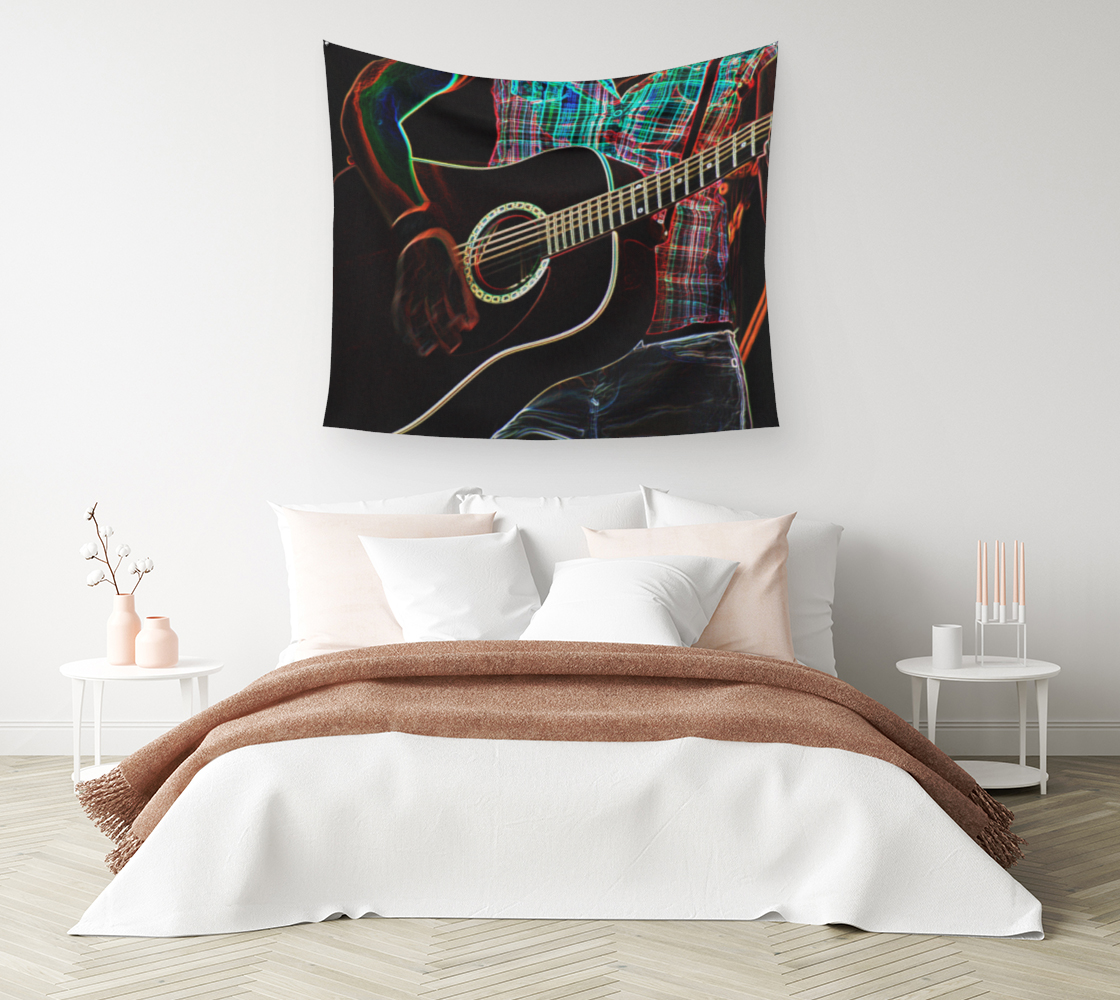 Guitar 1 Wall Tapestry preview #1