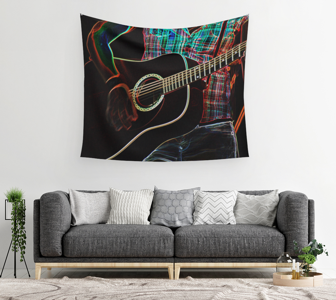 Guitar 1 Wall Tapestry preview #2