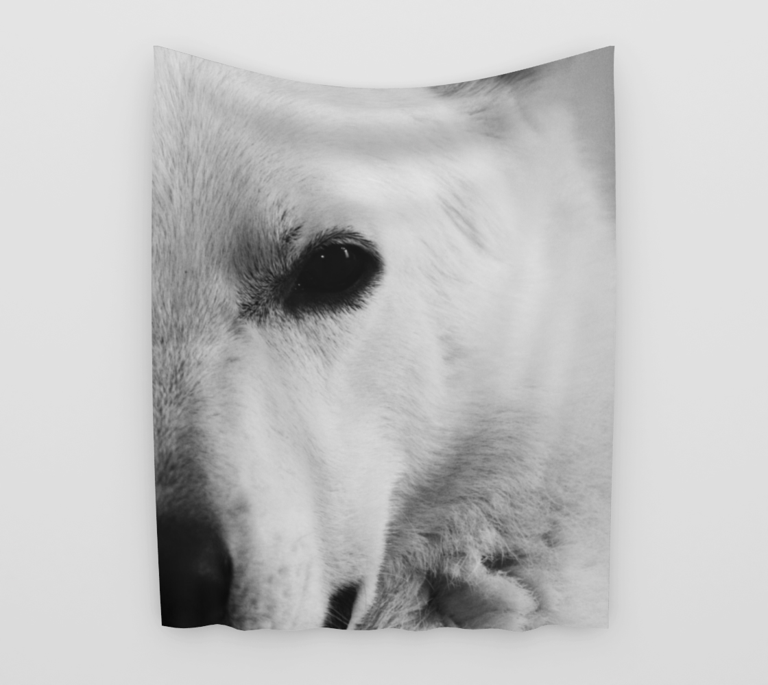 White German Shepherd Wall Tapestry preview
