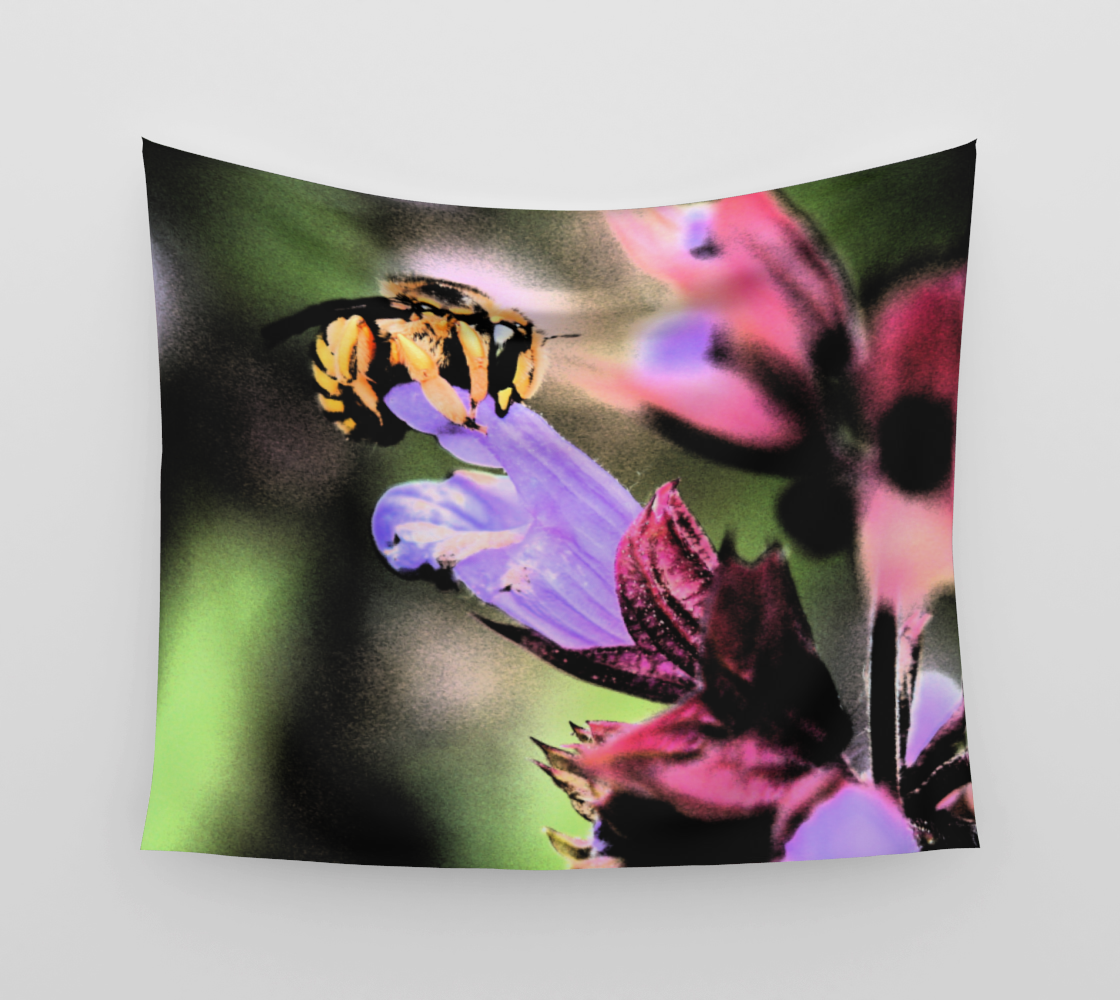 Bee and Flower Wall Tapestry preview