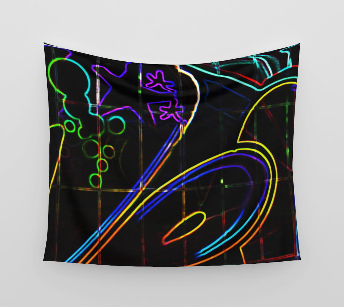 Graffiti 10 Wall Tapestry preview #3