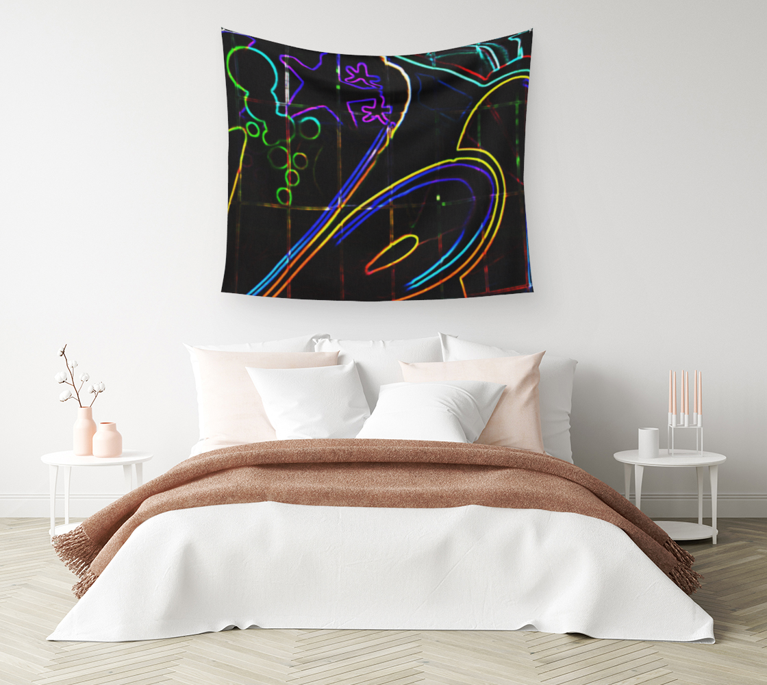 Graffiti 10 Wall Tapestry preview #1