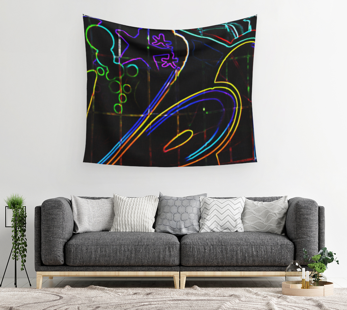 Graffiti 10 Wall Tapestry preview #2