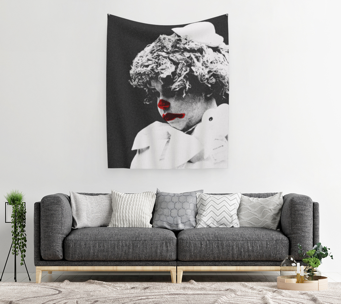 Clown 3 Wall Tapestry preview #2