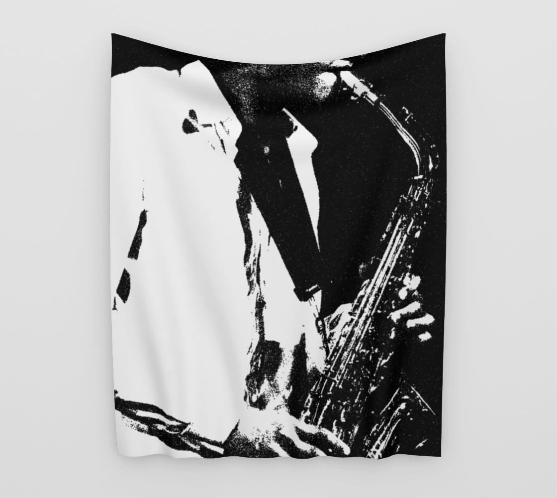 Saxophone Wall Tapestry preview