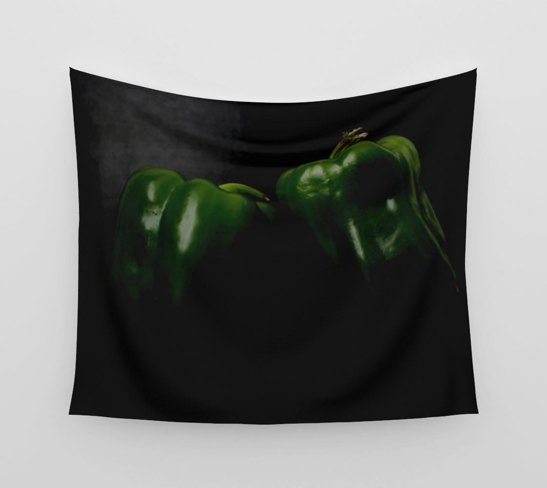 Two Green Peppers Wall Tapestry preview