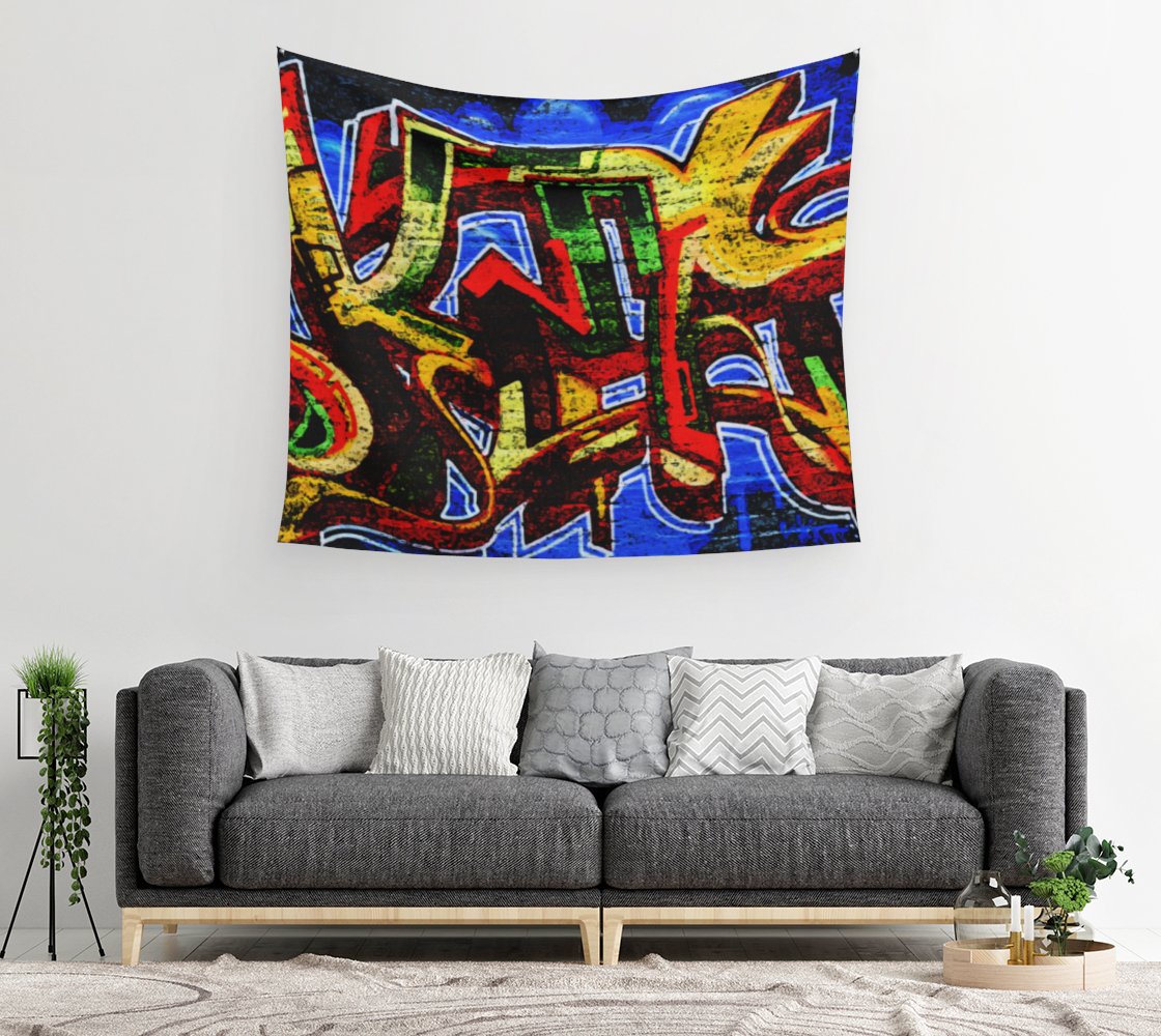 Graffiti 17 Wall Tapestry preview #2