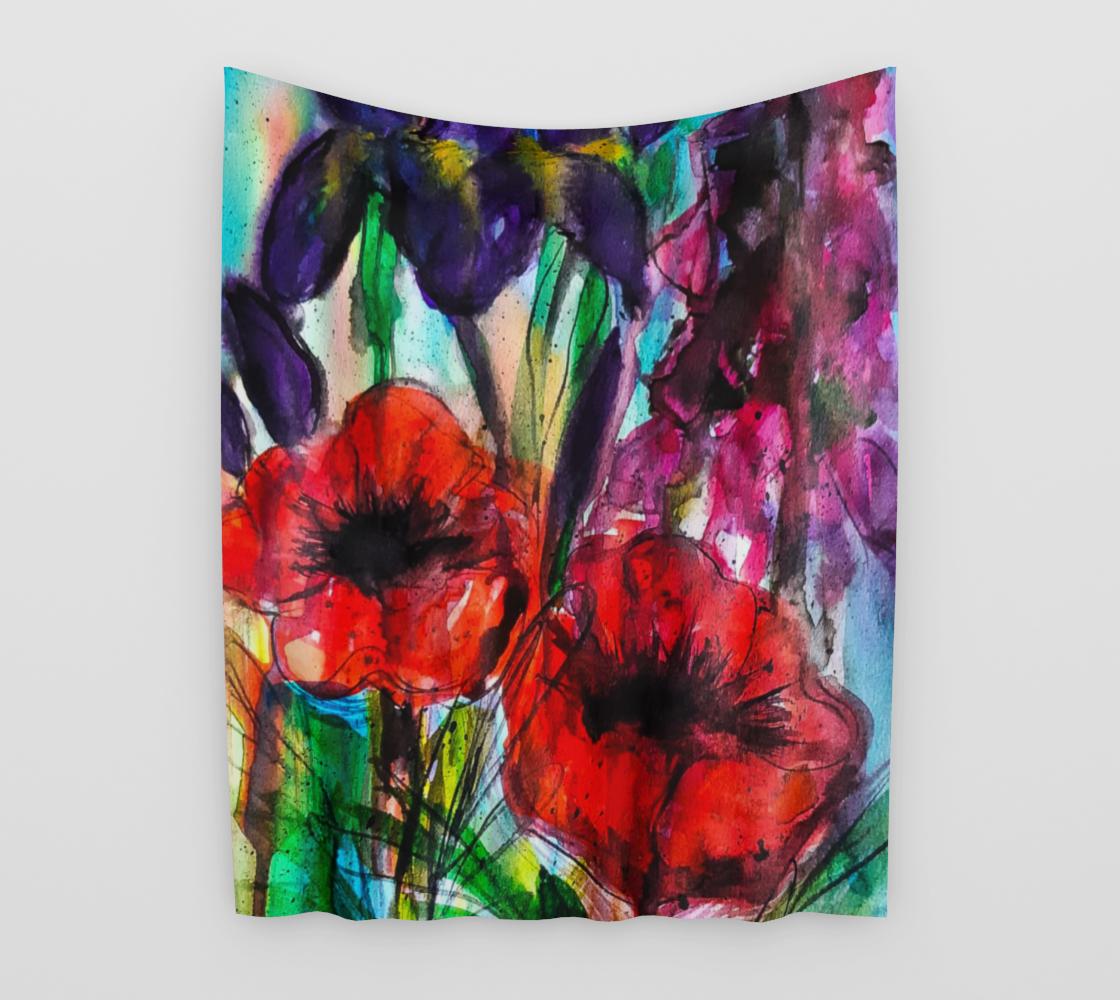 Aperçu de Vibrant Garden Wall Tapestry