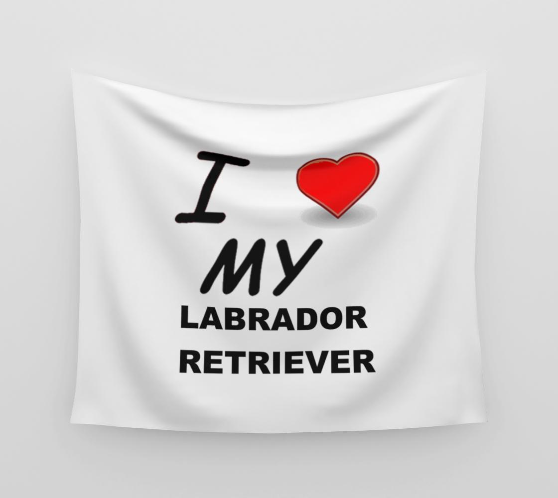 Labrador Retriever love wall tapestry preview