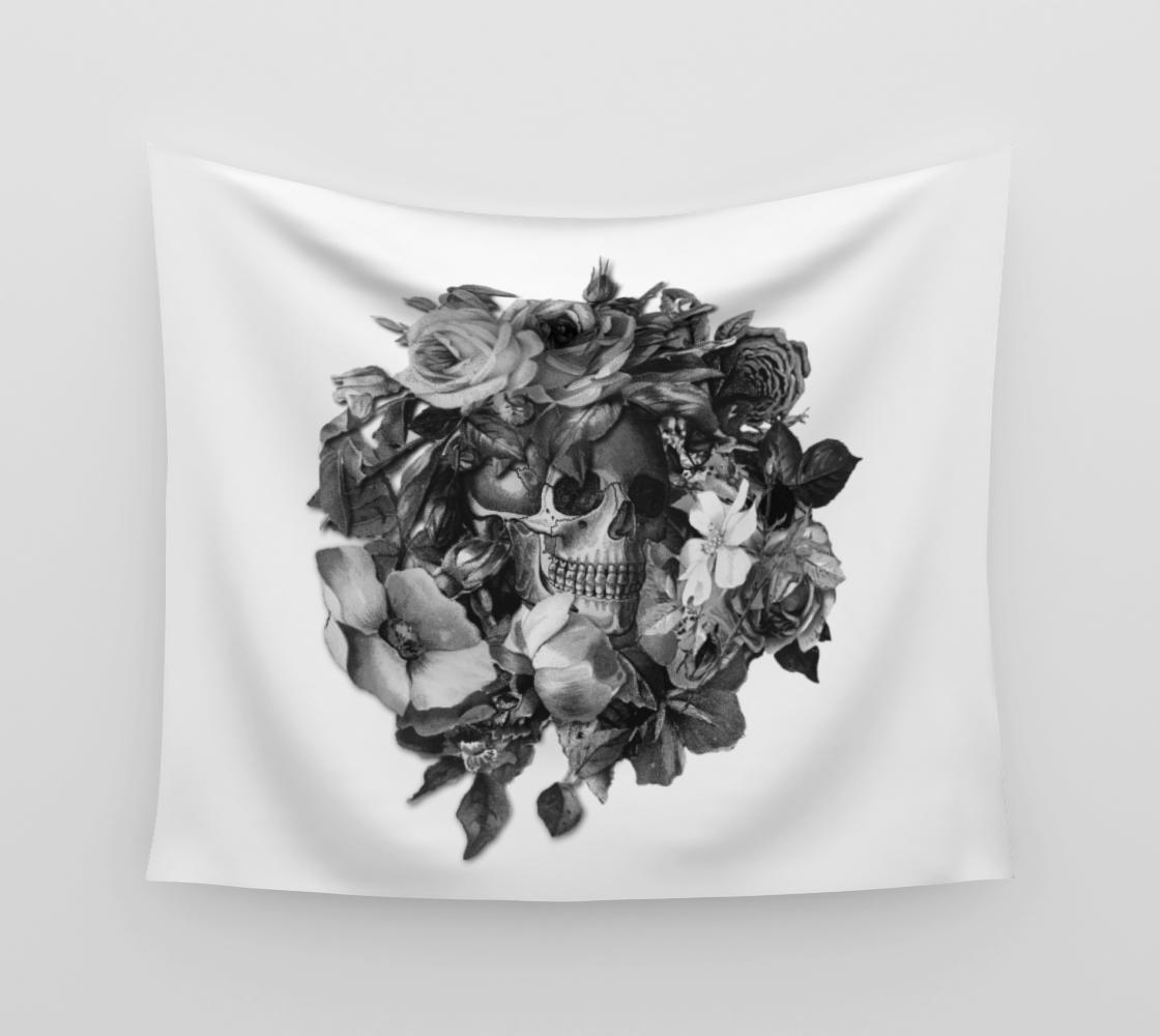 Aperçu de Skull Floral Memento Wall Hanging Tapestry