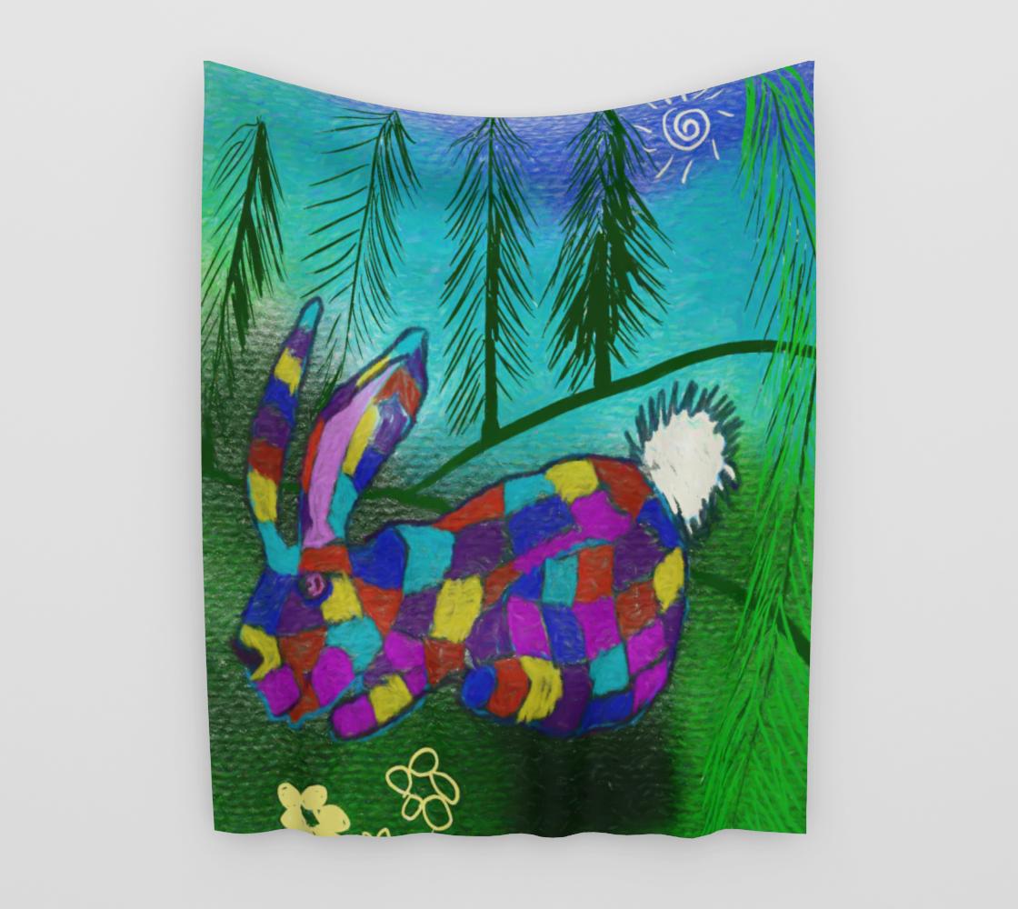 Aperçu de Patchwork Bunny Tapestry