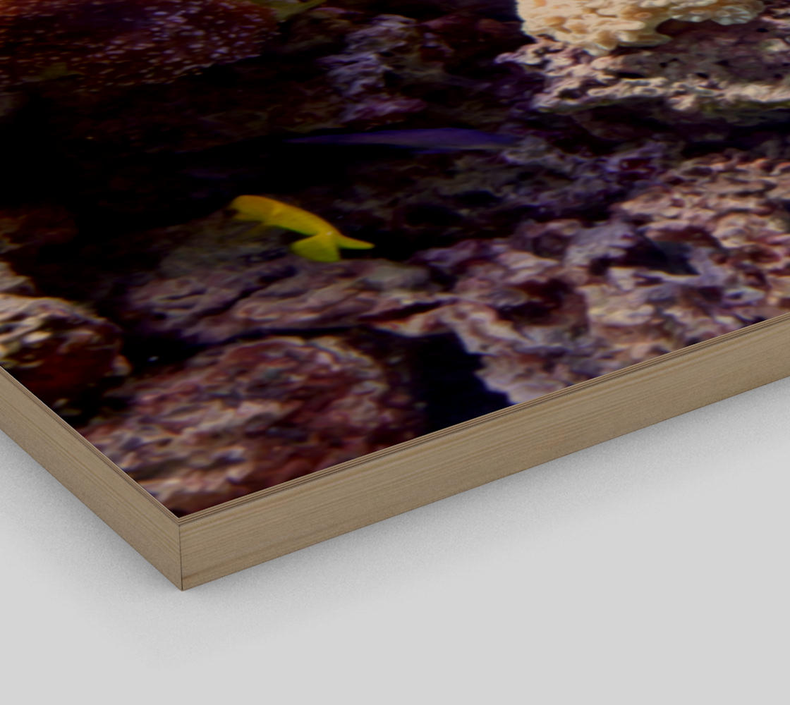 Coral Reef Wall Art with Oil Painting Effect preview #3