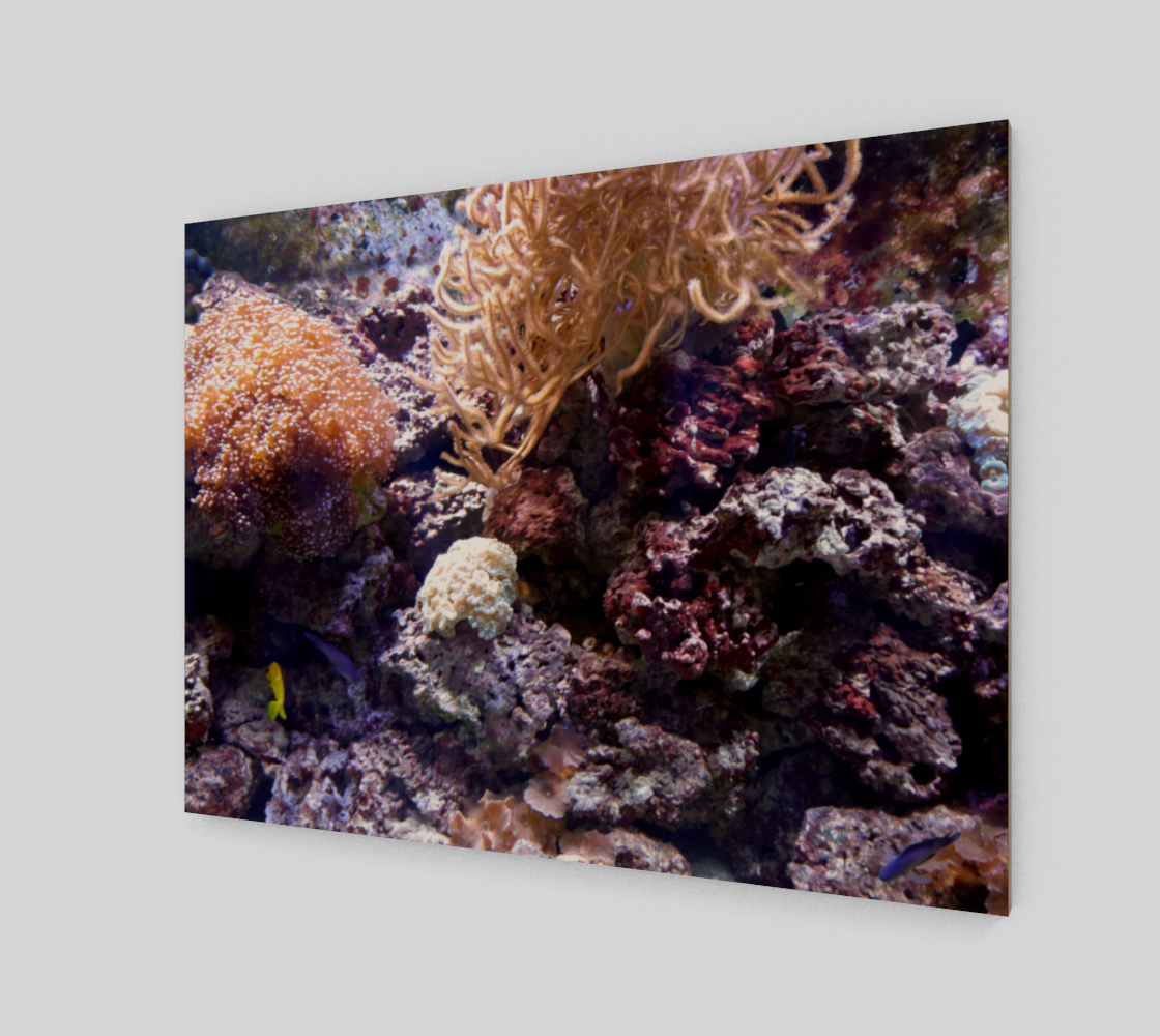 Coral Reef Wall Art with Oil Painting Effect preview #2